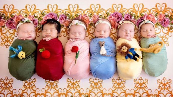 Babies Dressed as Disney Princesses for