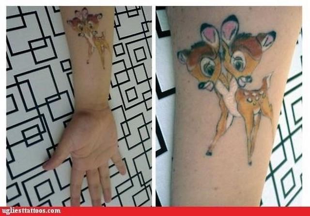 disney tattoo bambi