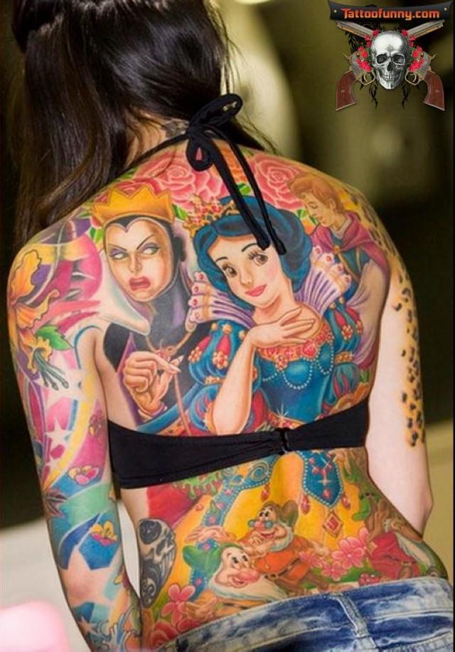 disney tattoo snow white witch