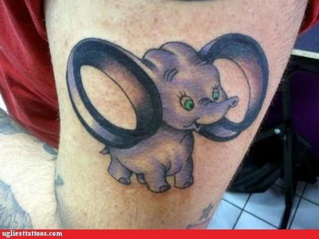 disney tattoo dumbo