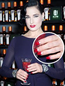 Dita von Teese -- Half moon nails