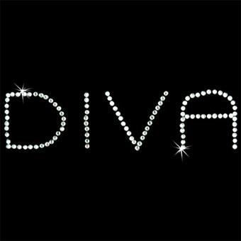 Diva iron-on