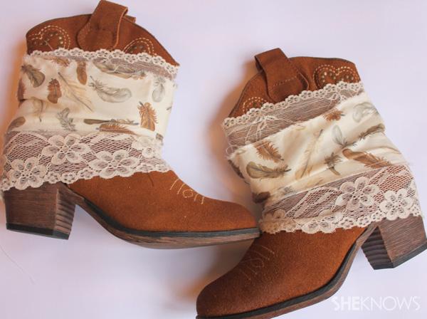 DIY bohemian boots