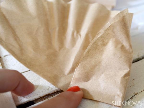 wrap into cone shape