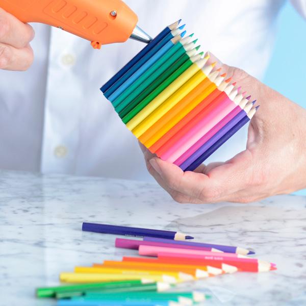 DIY colored pencil favor boxes