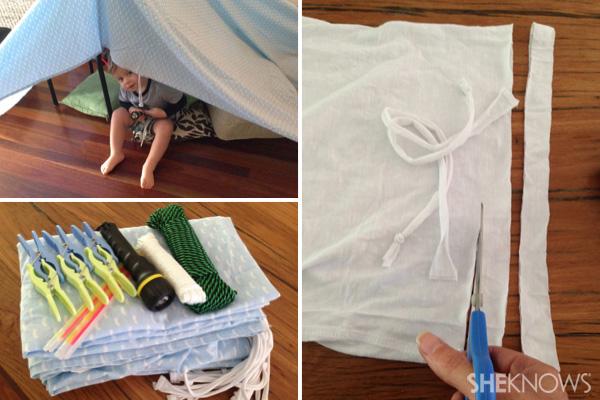 DIY fort for boys