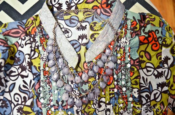 glitter collar shirt