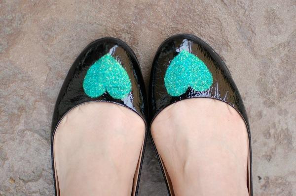 DIY Glitter flats