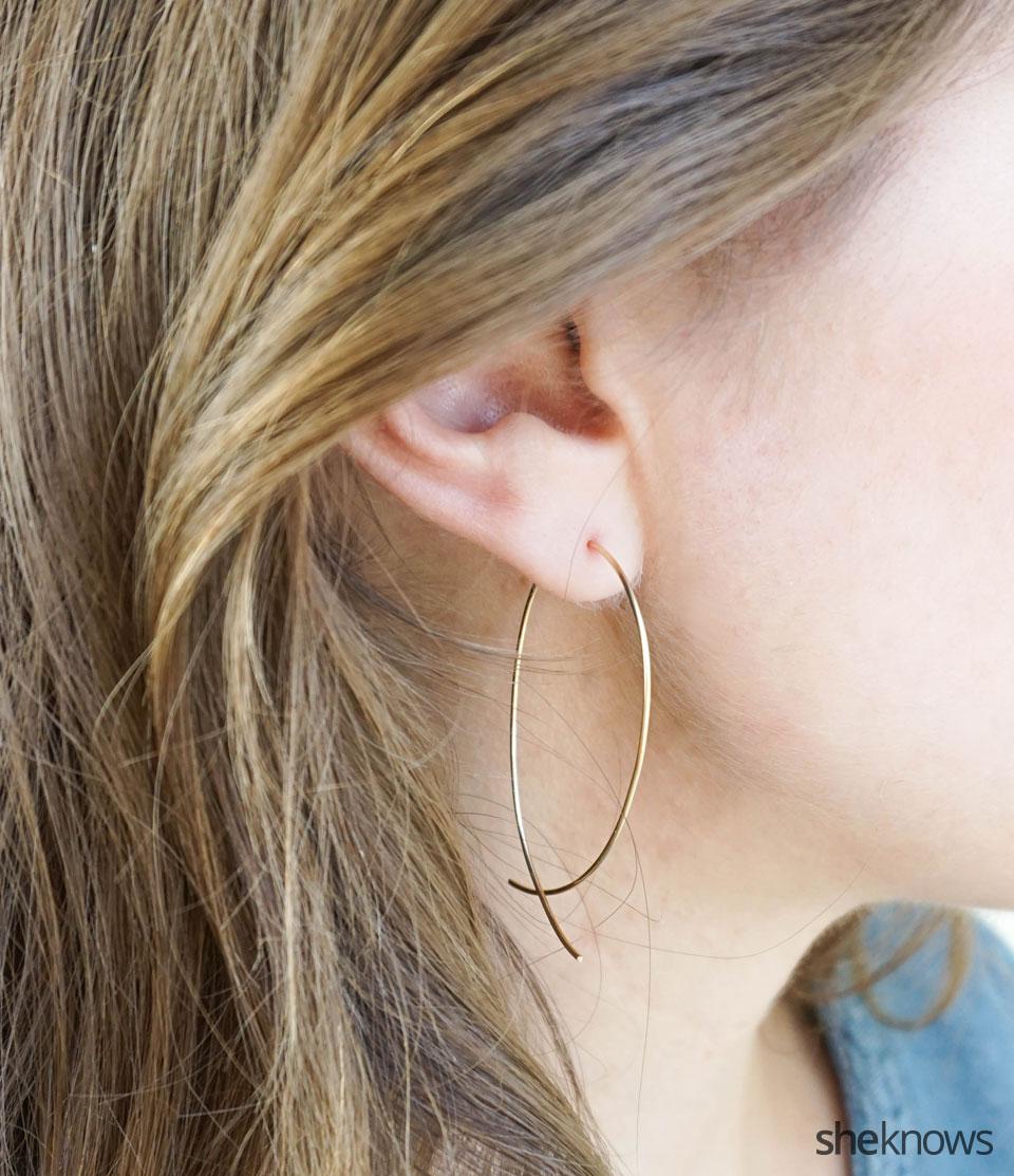 DIY Hoop Earrings: Finished