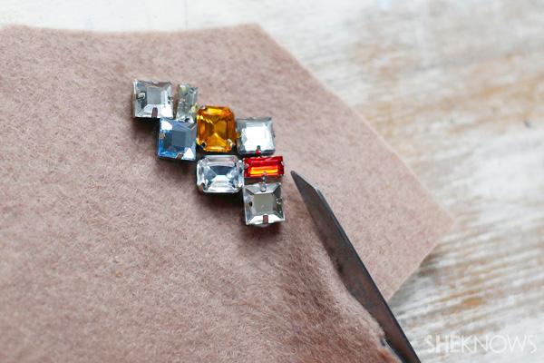 DIY Jewel-embellished hair clips | SheKnows.com
