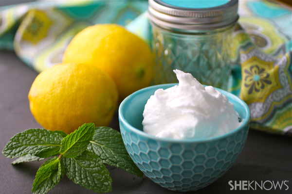 DIY Lemon-mint body butter