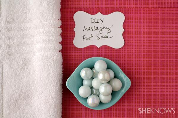 DIY Massaging foot soak