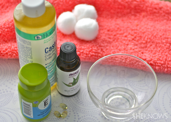 DIY Nail Strengthener supplies