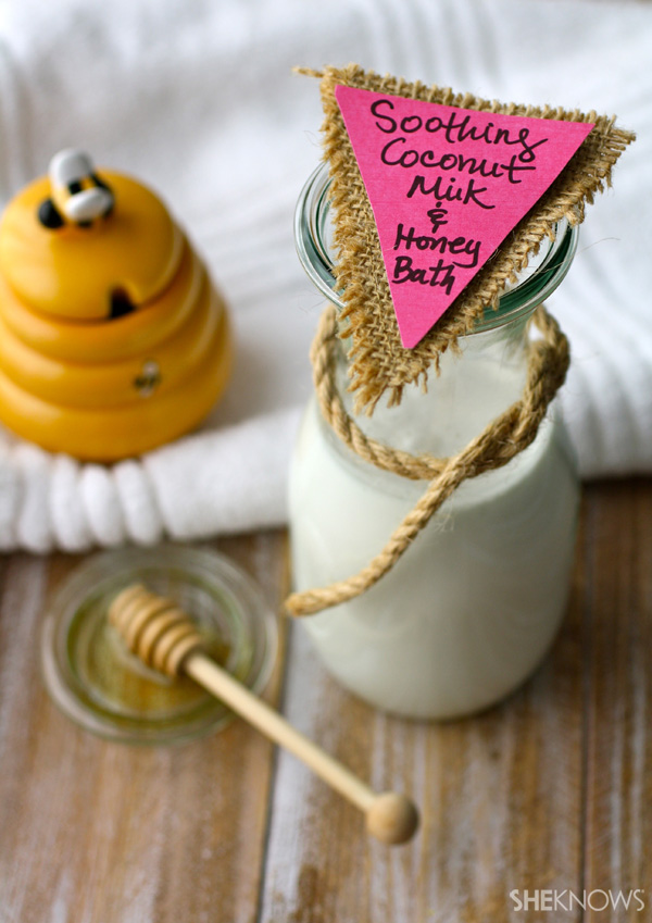 DIY Soothing coconut milk and honey bath | SheKnows.com