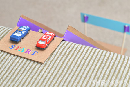 DIY toy race car track