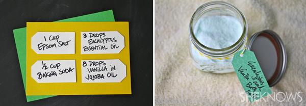 DIY Eucalyptus and vanilla bath salts | SheKnows.com