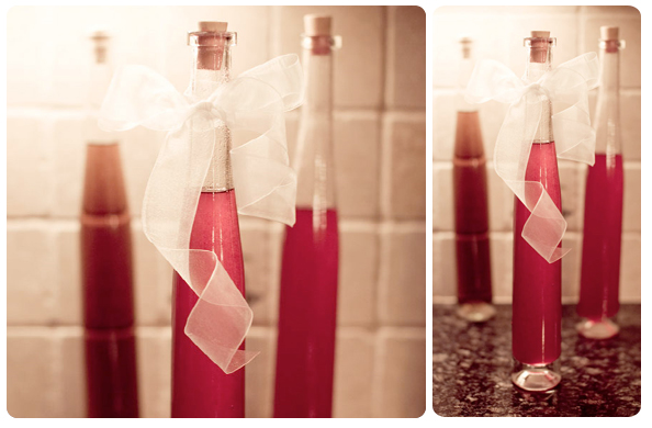diy wedding favor liquor gifts by Genevieve Nisly