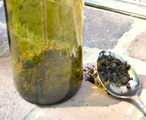 dirt in bottle