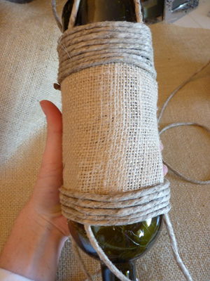 DIY wine bottle bird feeder -- Step 4