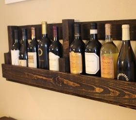 DIY Wine bottle shelf