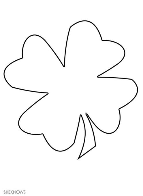 Craft template design four-leaf clover