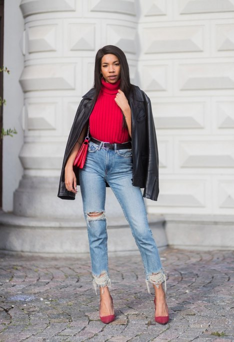 Ways To Wear A Turtleneck | Pops of Red