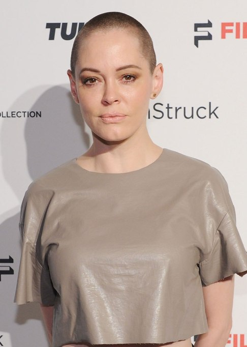 Rose McGowan Buzz Cut