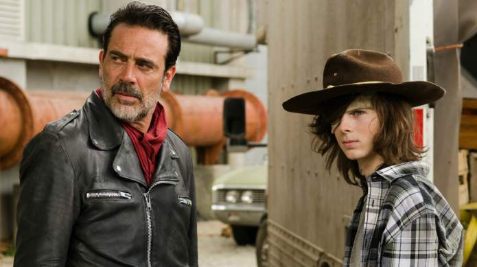 TWD scenes between Negan & Carl