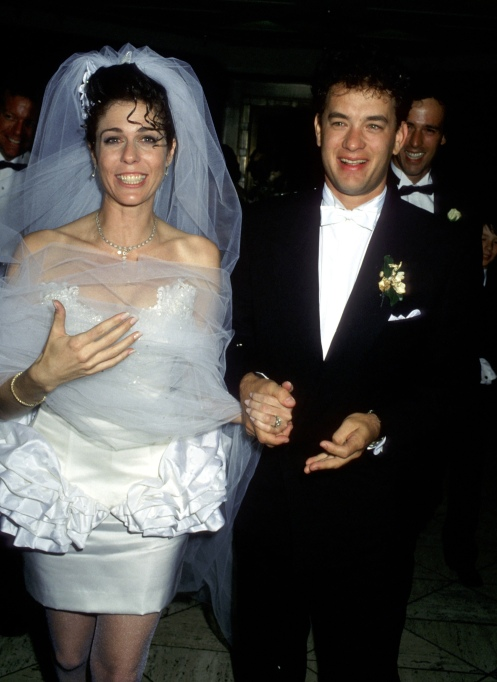 Tom Hanks and Rita Wilson at their 1988 wedding reception