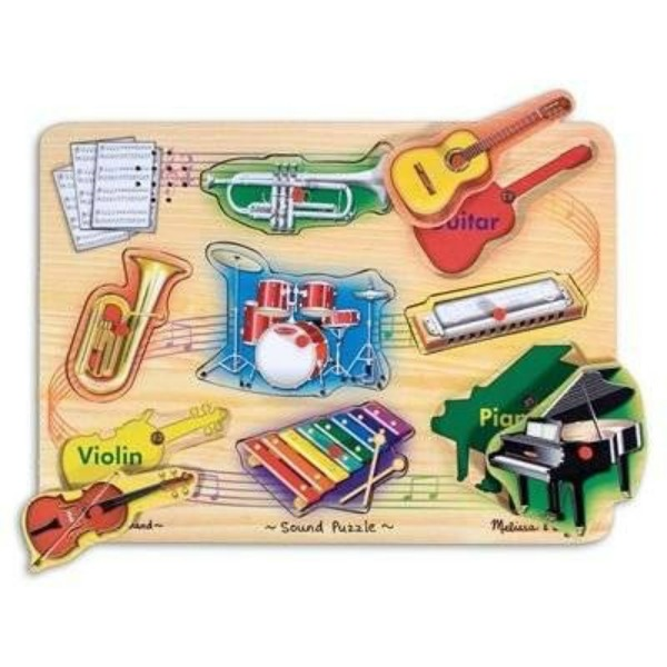 Gifts for kids with autism: Musical Instruments Sound Puzzle