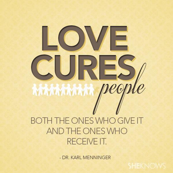 Dr. Karl Menninger love quote