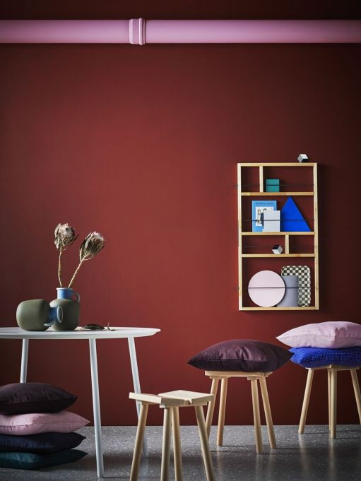 IKEA YPPERLIG: This collection's colorful pillows will brighten up existing decor.