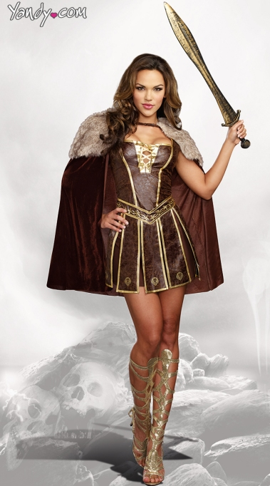 Sexy Halloween Costume: Gladiator Girl