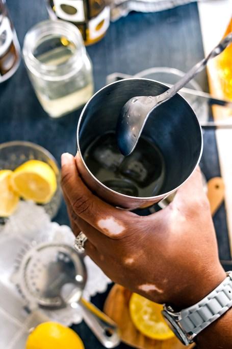 Stirring Whiskey Sour