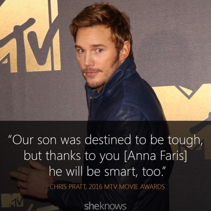Chris Pratt quote MTV Movie Awards