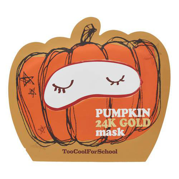 Pumpkin Beauty Products to Buy Now: Too Cool For School Pumpkin 24K Gold Sheet Mask | Fall Beauty 2017