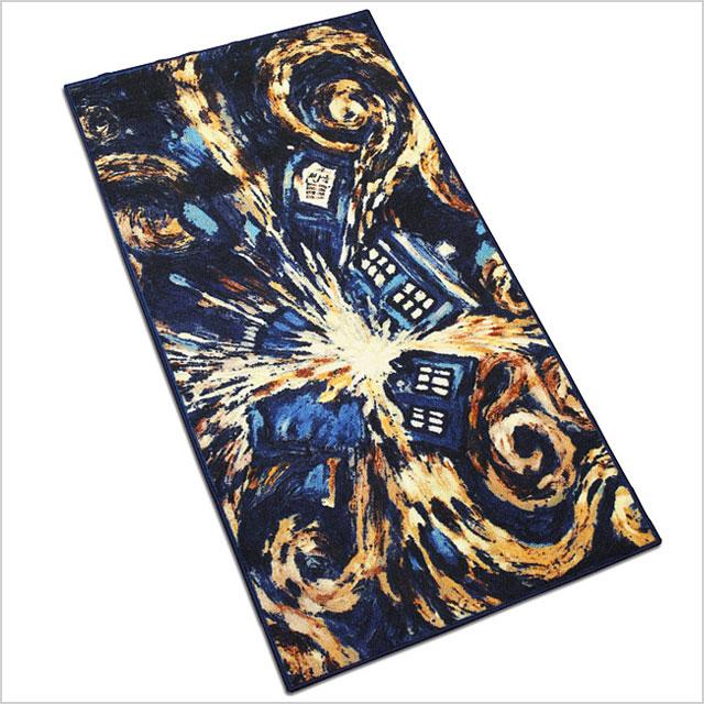Exploding Tardis rug