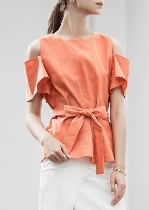 Best Lightweight Summer Tops For The Summer: J.O.A. Tie-Front Top | Summer Fashion 2017