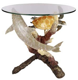 Dolphin and Sea Turtle Side Table