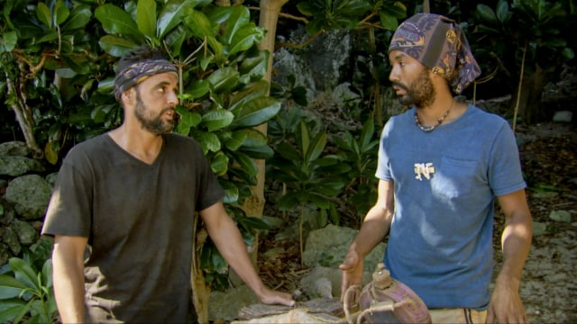 Domenick Abbate with Wendell Holland on Survivor: Ghost Island