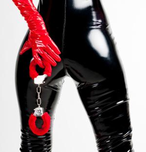 Dominatrix with handcuffs