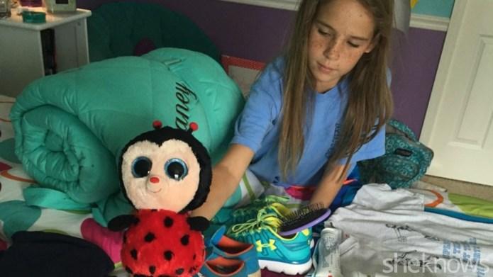 How my daughter packs for sleepaway