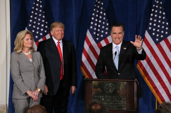 Donald Trump with the Romneys