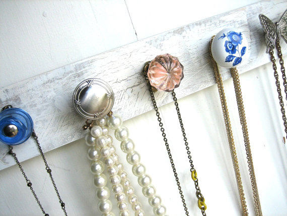 Jewelry organizer made out of door knobs