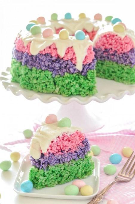 Easter Rice Krispies Cake