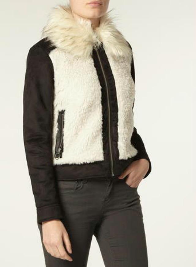 Dorothy Perkins shearling coat