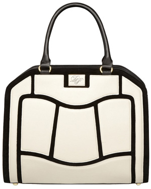 Dorothy Perkins White and Black Pannelled Bag $69