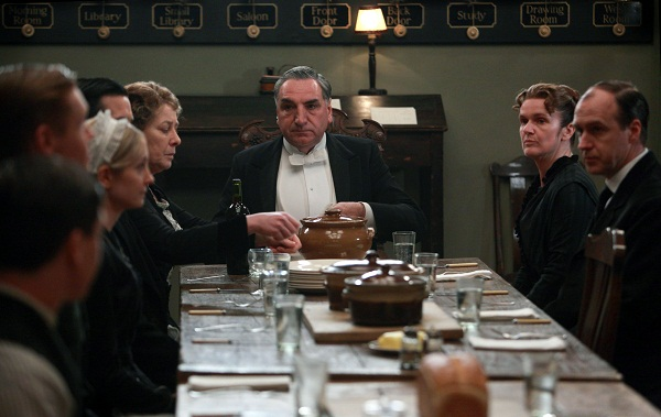 Downton Abbey's servants' table