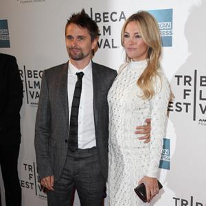 Kate Hudson, Matthew Bellamy working on
