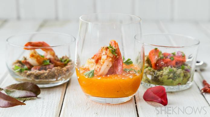 3 Impressive cocktail-glass party appetizers to